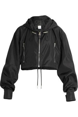 Givenchy Women Sports Jackets - Women's Cropped Logo Windbreaker - - Size 10