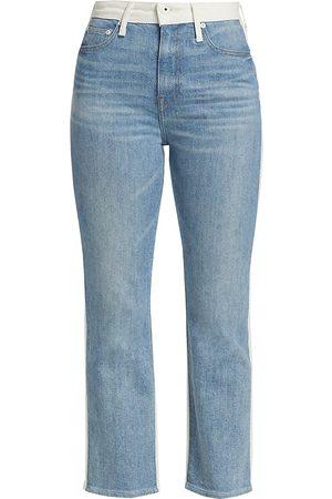 JONATHAN SIMKHAI Women's River High-Rise Straight Jeans - Two Toned - Size 28