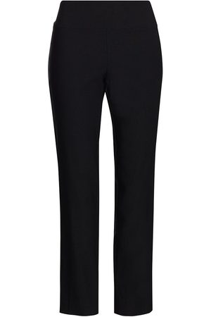 NIC+ZOE Women Pants - Women's Wonderstretch Ankle Pants - Onyx - Size 10