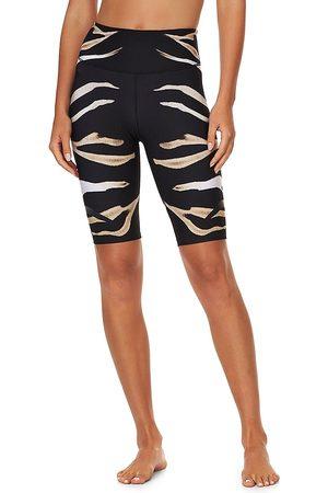 Camilla Women Sports Shorts - Women's Zebra-Print Bike Shorts - Zebra Crossing - Size XS