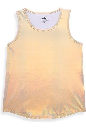 MIA NEW YORK Girl's Metallic Shirttail Tank Top - - Size 7