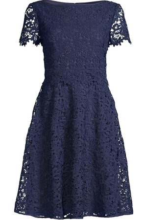 Shani Women Printed Dresses - Women's Floral Lace Dress - Navy - Size 14