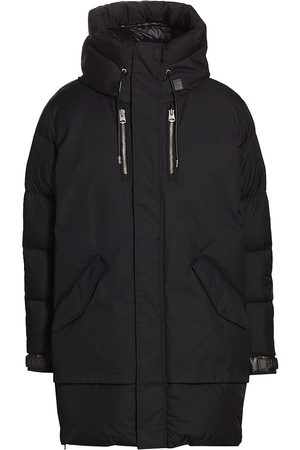 Mackage Men Parkas - Men's Simon Water Repellent Mixed-Media Down Coat - - Size 44