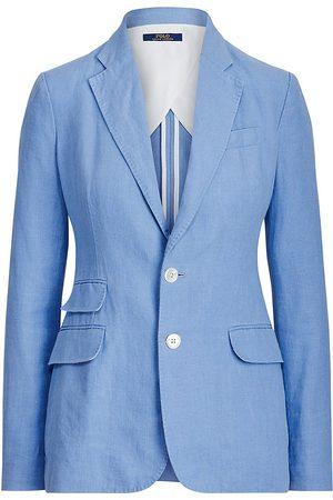 Polo Ralph Lauren Women's Single-Breasted Linen Blazer - Chambray - Size 14