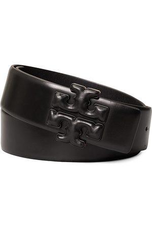 Tory Burch Women's Eleanor Double T Leather Belt - - Size Small