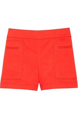 THEORY Women's Mini Utility Shorts - Scarlet - Size 4