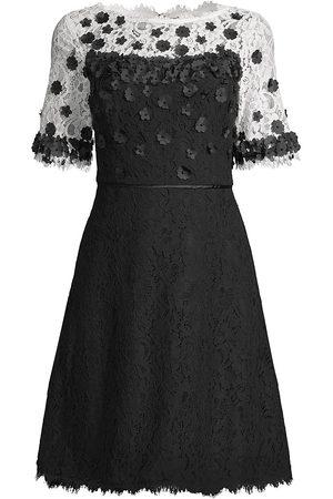 Shani Women's Floral Appliqué Dress - Ivory - Size 16