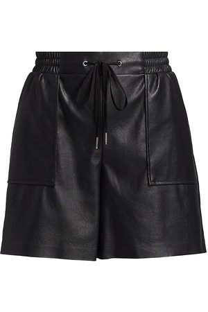 N:philanthropy Women Sports Shorts - Women's Samy Leatherette High-Rise Shorts - Cat - Size Large