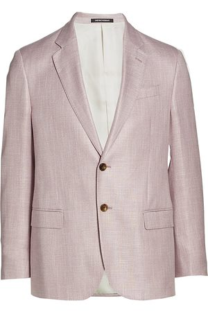 Armani Men Blazers - Men's Two-Button Viscose Blazer - - Size 42