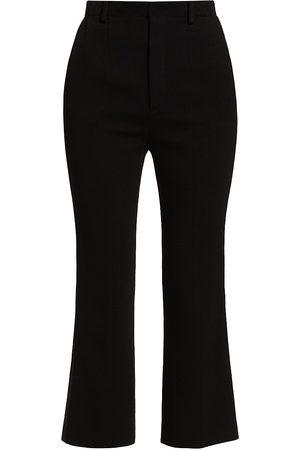 Saint Laurent Women's Ankle Cropped Pants - Noir - Size 2