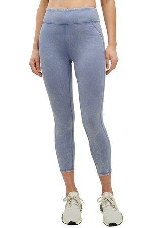 Splendid Women Leggings - Women's Eva Acid Wash Cropped Leggings - Stone - Size Medium