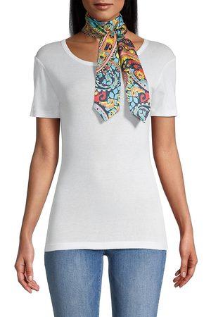 Etro Women Scarves - Women's Arizona Paisley Silk Skinny Scarf