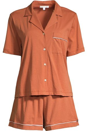 SKIN Women's Celina 2-Piece Short Pajama Set - Canyon Clay - Size Small