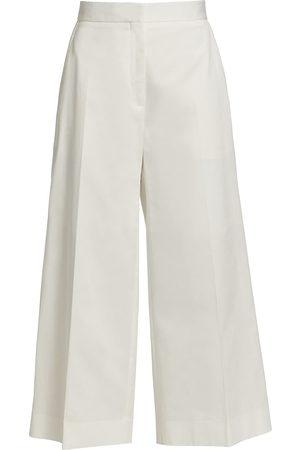 Oscar de la Renta Women Pants - Women's Poplin Culotte Pants - - Size 4