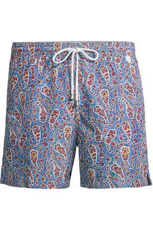 ISAIA Men Swim Shorts - Men's Paisley Swim Trunks - - Size XXL