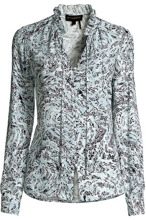 Donna Karan Women's Textured Swirls Shirt - Textured Swirls - Size XL