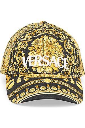 VERSACE Men Caps - Men's Barocco Print Logo Baseball Cap - - Size Large