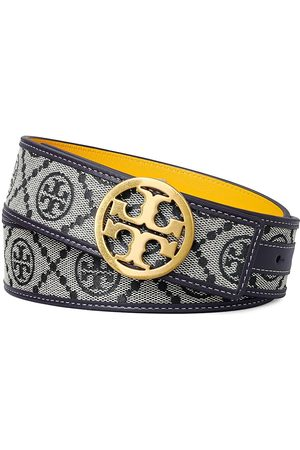 Tory Burch Women's T Monogram Jacquard Belt - Tory Navy - Size Small