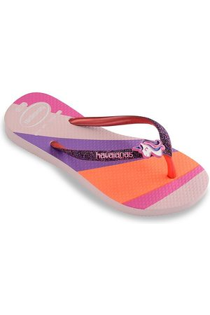 Havaianas Kid's Slim Glitter Thong Sandals - Candy - Size 10 (Toddler)