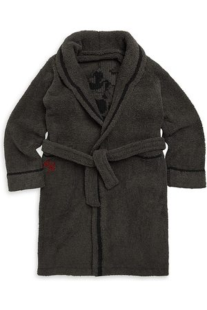 Barefoot Dreams Little Boy's & Boy's Mickey Mouse Flannel Robe - Carbon - Size 8