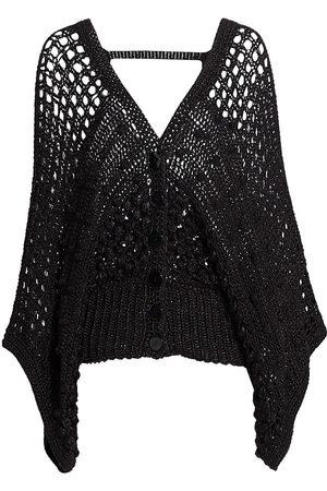 Frederick Anderson Women Backless Tops - Women's Open-Back Crochet Cardigan - - Size XS