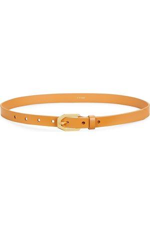 Frame Women Belts - Women's Le Polygon Leather Belt - Caramel - Size XS