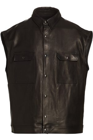Rick Owens Men's Sleeveless Jumbo Faux Leather Vest - - Size 38