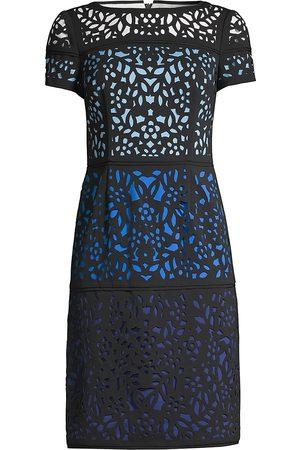 Shani Women's Ombre Laser-Cut Lace Dress - - Size 4