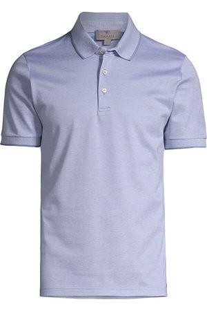 CANALI Men's Cotton Short-Sleeve Polo - Light - Size 40
