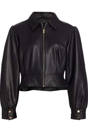 LaMarque Women's Karry Cropped Leather Jacket - - Size Small