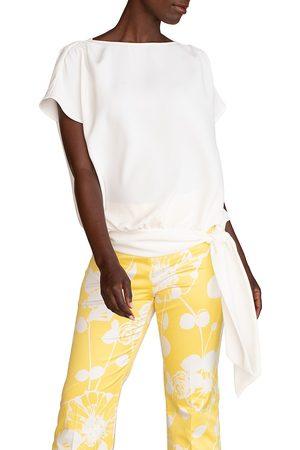 Trina Turk Women's Salas Side-Tie Top - Wash - Size XL