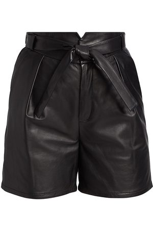 LaMarque Women's Despina Leather Shorts - - Size 6