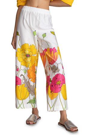 Trina Turk Women's Statue Floral Straight Pants - Multi Wash - Size Medium
