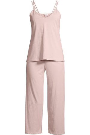 SKIN Women's Suri 2-Piece Double-Strap Camisole & Pants Pajama Set - Wild Rose - Size Medium