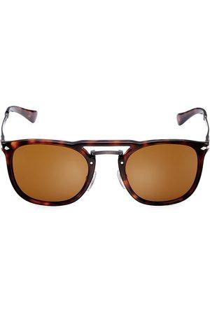 Persol Men's 50MM Tortoiseshell Aviator Sunglasses - Havana Gunmetal