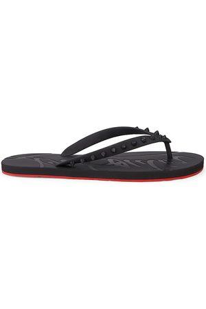 Christian Louboutin Women's Loubi Spike Flip Flops - - Size 6