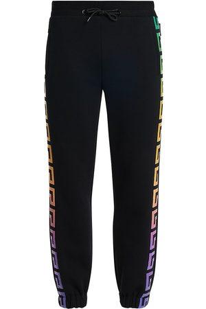 VERSACE Men's Logo Drawstring Sweatpants - Multi - Size Large