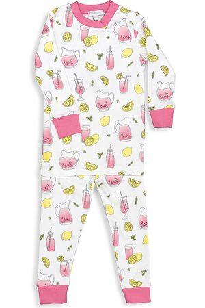 Baby Noomie Baby Girl's & Little Girl's Lemonade 2-Piece Long-Sleeve Pajama Set - - Size 4