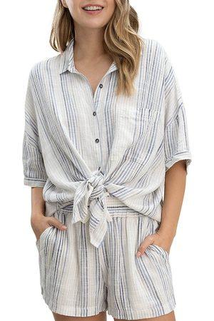 Splendid Women's Pier Stripe Shirt - Sky Multi - Size XS