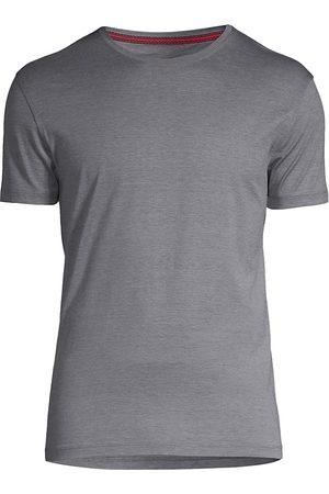 ISAIA Men's Silk & Cotton T-Shirt - Grey - Size XXL