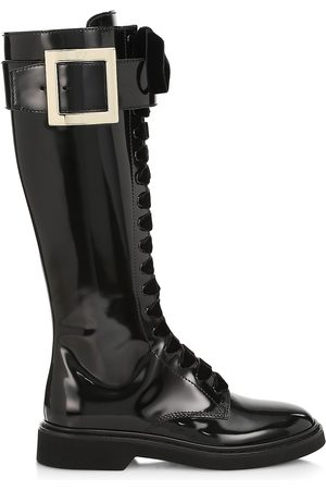 Roger Vivier Women's Viv Rangers Patent Leather Knee-High Boots - - Size 9