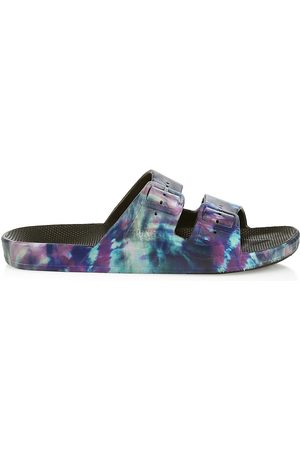Freedom Moses Women's Cosmic Two-Strap Slides - Cosmic - Size 10 Sandals