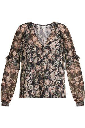 VERONICA BEARD Women's Zanita Silk-Blend Blouse - Multi - Size 2