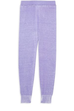 MINNIE ROSE Little Girl's and Girl's Reverse Printed Frayed Joggers - Lilac - Size 14