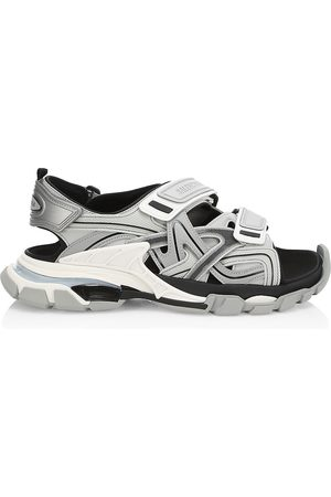Balenciaga Men's Track Sandals - Grey - Size 14