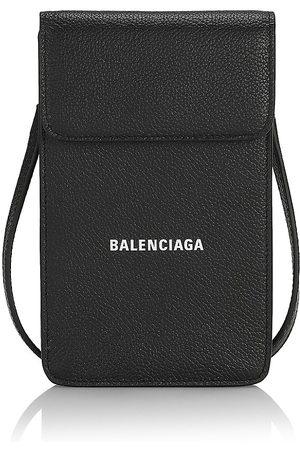 Balenciaga Men's Leather Cash Phone Holder