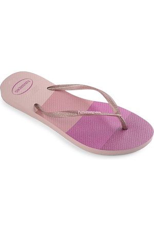 Havaianas Kid's Slim Palette Glow Thong Sandals - Candy - Size 3 (Child)