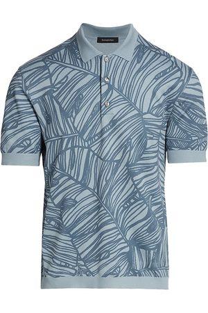 Ermenegildo Zegna Men's Printed Cotton Polo T-Shirt - - Size 46
