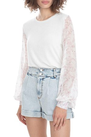 Generation Love Women's Noelle Pastel Floral Top - Pastel English Rose - Size Small
