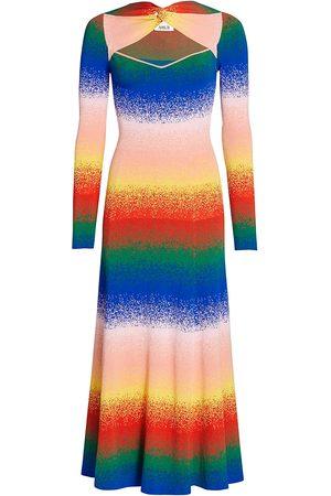AMUR Women's Rainbow Twist-Neck Knit Dress - Rainbow - Size XS